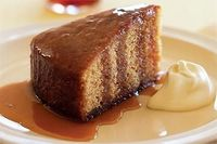 This luscious cake is served with a generous drizzling of warm Earl Grey tea infused syrup.