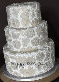 Lace cake by Peggy Does Cake!