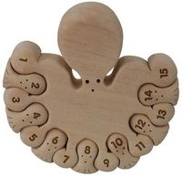 Counting Octopi Wood Puzzle