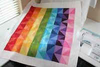 I Can Sew a Rainbow quilt