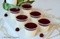 White Chocolate Panna Cotta Shooters with Raspberry Coulis: A delicious dessert, perfect for parties and buffets: White Chocolate Panna Cotta Shooters with Rasp...[read more at Food Frenzy]