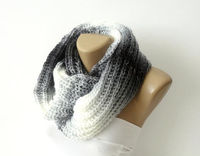 infinity scarf, women hand knitted scarf ruffled scarf,stylish
