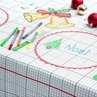 Amazing! A tablecloth you can draw on with markers that washout.