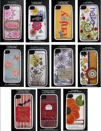 iPhone covers - you can create them on the computer or stamp it. Slip it into a clear case and you have a custom iPhone!