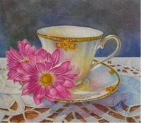 Miss Ambrosia, Watercolor for sale by Laura Leeder