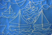 Very cute nautical free-motion quilting source: The Box Jaunt
